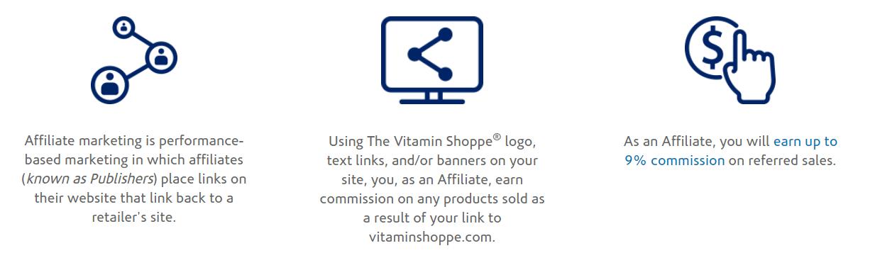 O programa de afiliados da loja de vitaminas