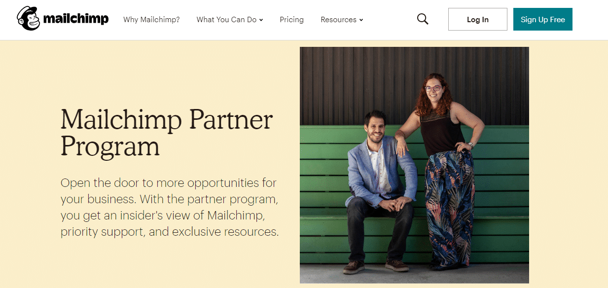 Programa de parceiros Mailchimp