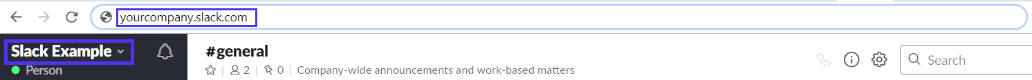 Nome da área de trabalho frouxa