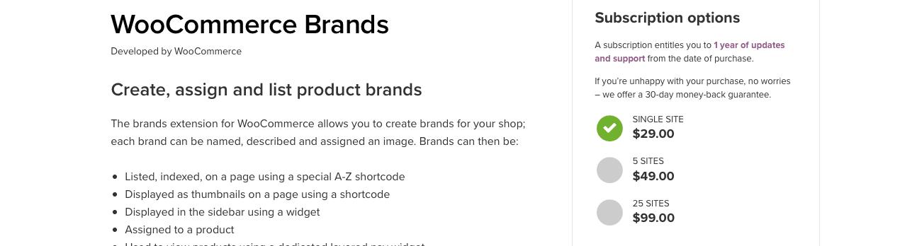 woocommerce brands