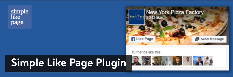 WordPress Facebook Plugins: Simple Like Page Plugin