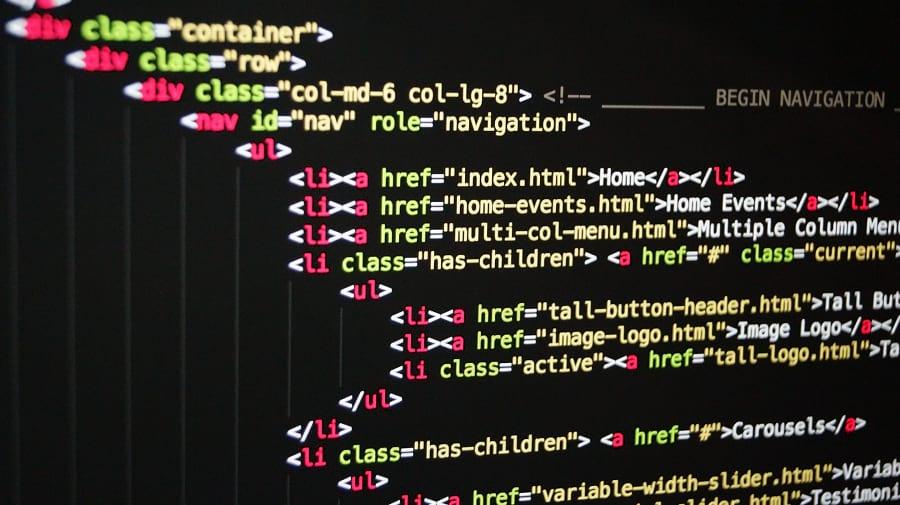 fragmento de código HTML
