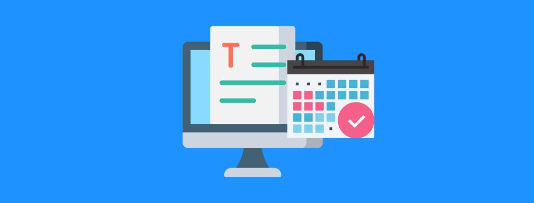 Criar um calendário de publicação irá ajudá-lo a publicar artigos frequentemente