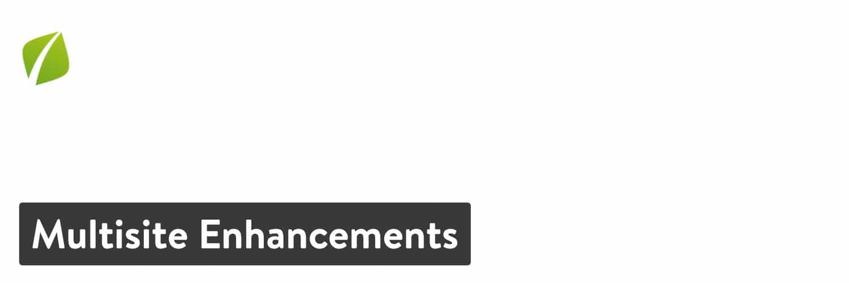Multisite Enhancements no plugin WordPress