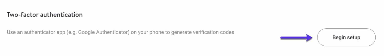 mykinsta nova opção 2FA baseada no Authenticator