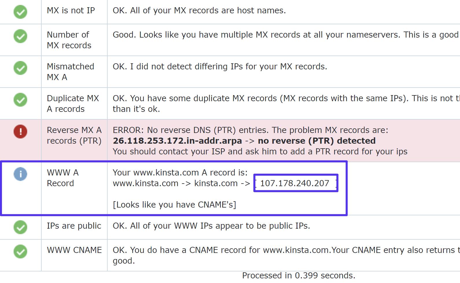 Como encontrar o endereço IP do domínio
