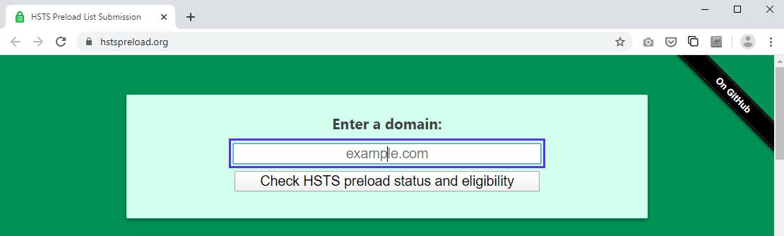 Envio da lista de pré-carga do HSTS