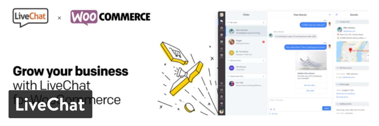 livechat - 23 Melhores Plugins WooCommerce para Melhorar Ainda mais a Funcionalidade Incorporada da Sua Loja