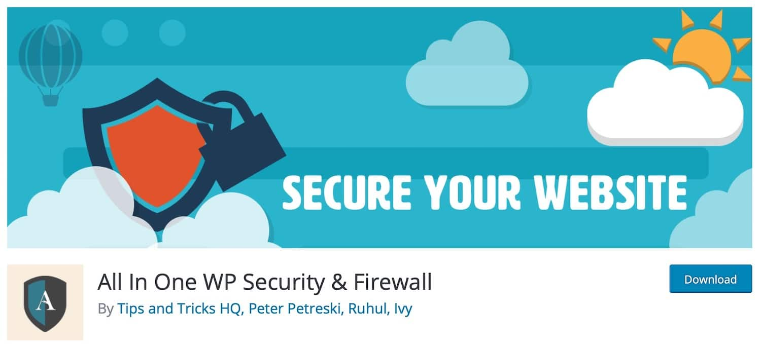 Plugin All In One WP Security & Firewall