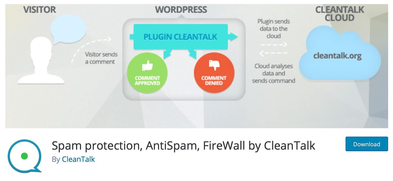 Proteção contra Spam, AntiSpam, FireWall by CleanTalk plugin