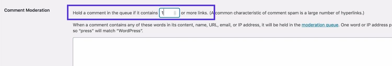 Reduza os links para comentários