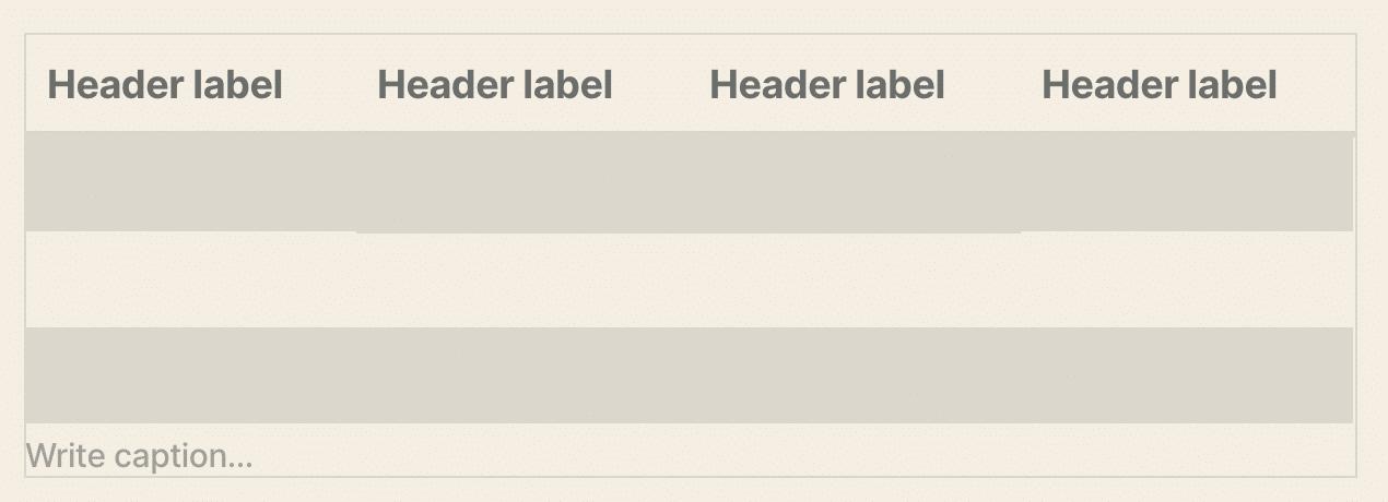 Uma tabela com uma legenda no WordPress 5.4