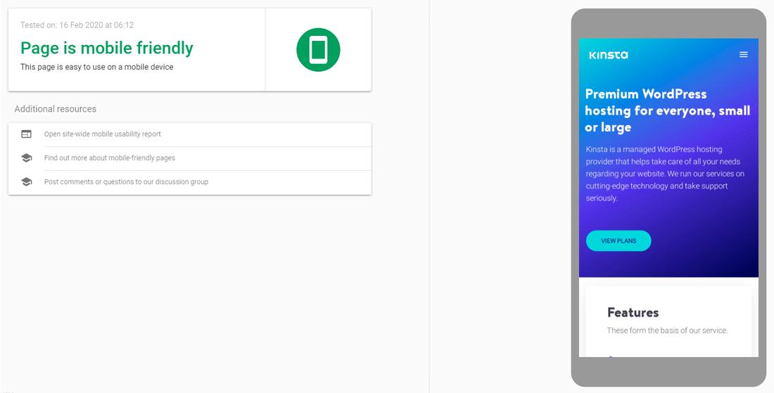 Teste Amigável do Google para celular