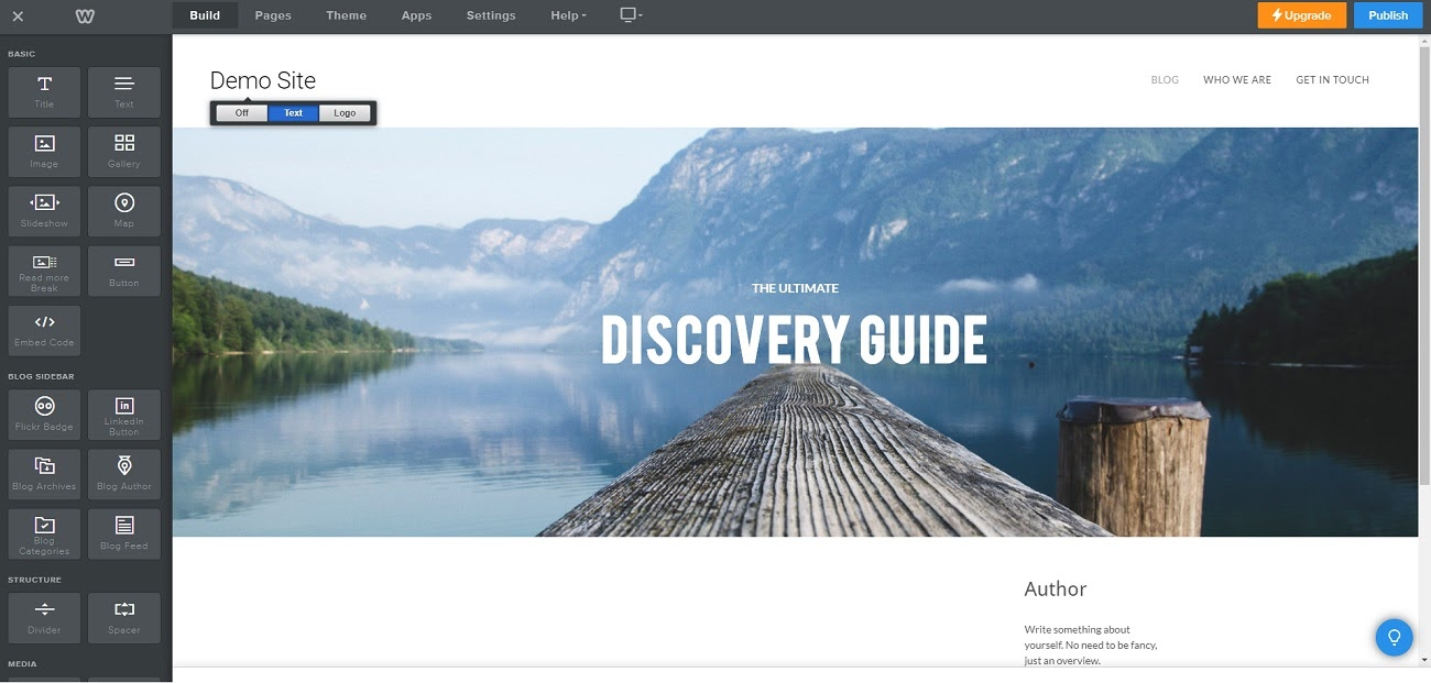 Interface Weebly