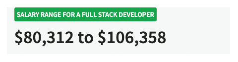 Salário de desenvolvedor de pilha cheia (Fonte: Salary.com)