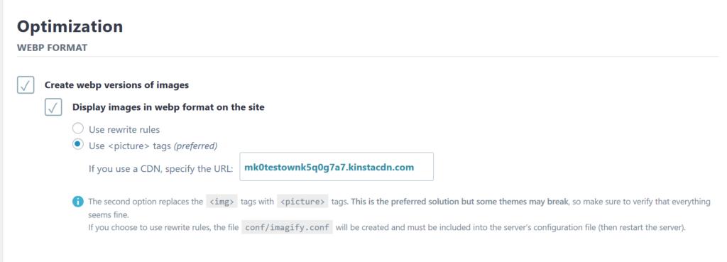 Como habilitar imagens do WordPress WebP no Imagify