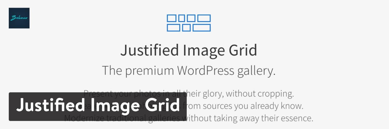 Plugin para WordPress Justified Image Grid