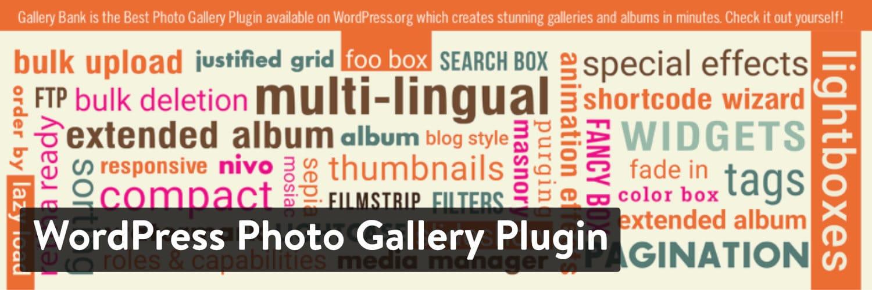 WordPress Photo Gallery Plugin por Gallery Bank