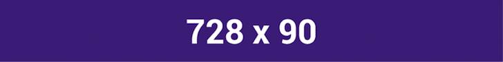 728 x 90 exemplo de banner de anúncio