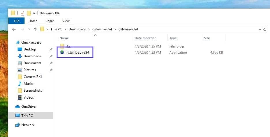 A aplicação DesktopServer Installer