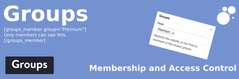 Groups WordPress plugin