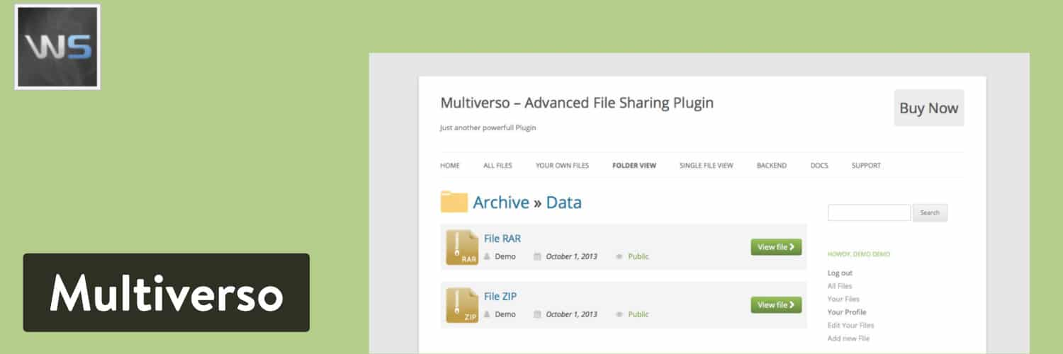 Multiverso WordPress plugin