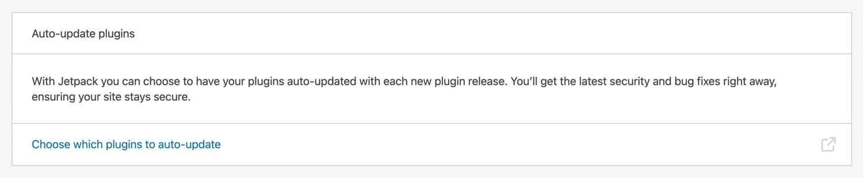 Plugins de atualização automática com Jetpack.