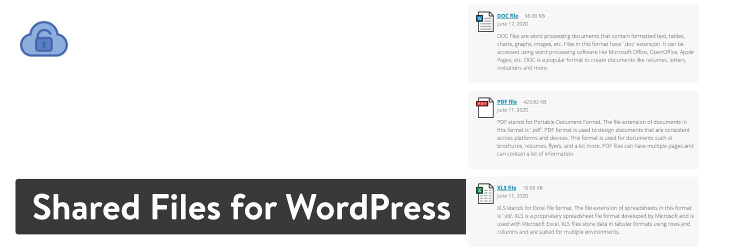 Shared Files for WordPress plugin
