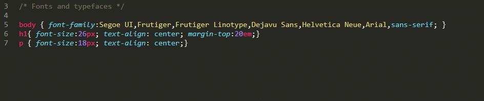 Exemplo de folha de estilo CSS