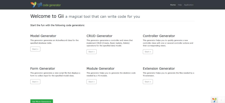 Gerador de código Gii