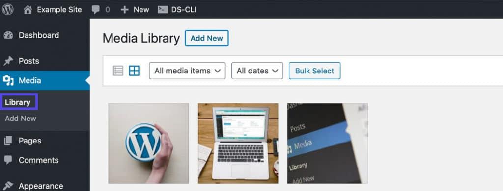 Você pode mudar o tamanho da imagem na Biblioteca de Mídia.