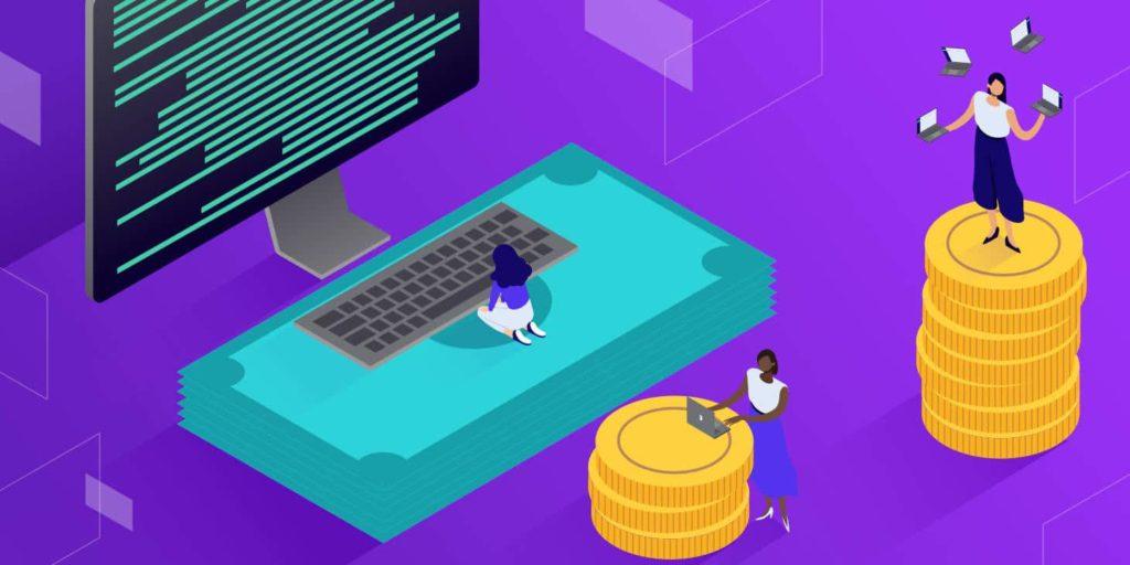 Qual é a média do salário de um desenvolvedor de pilha cheia?