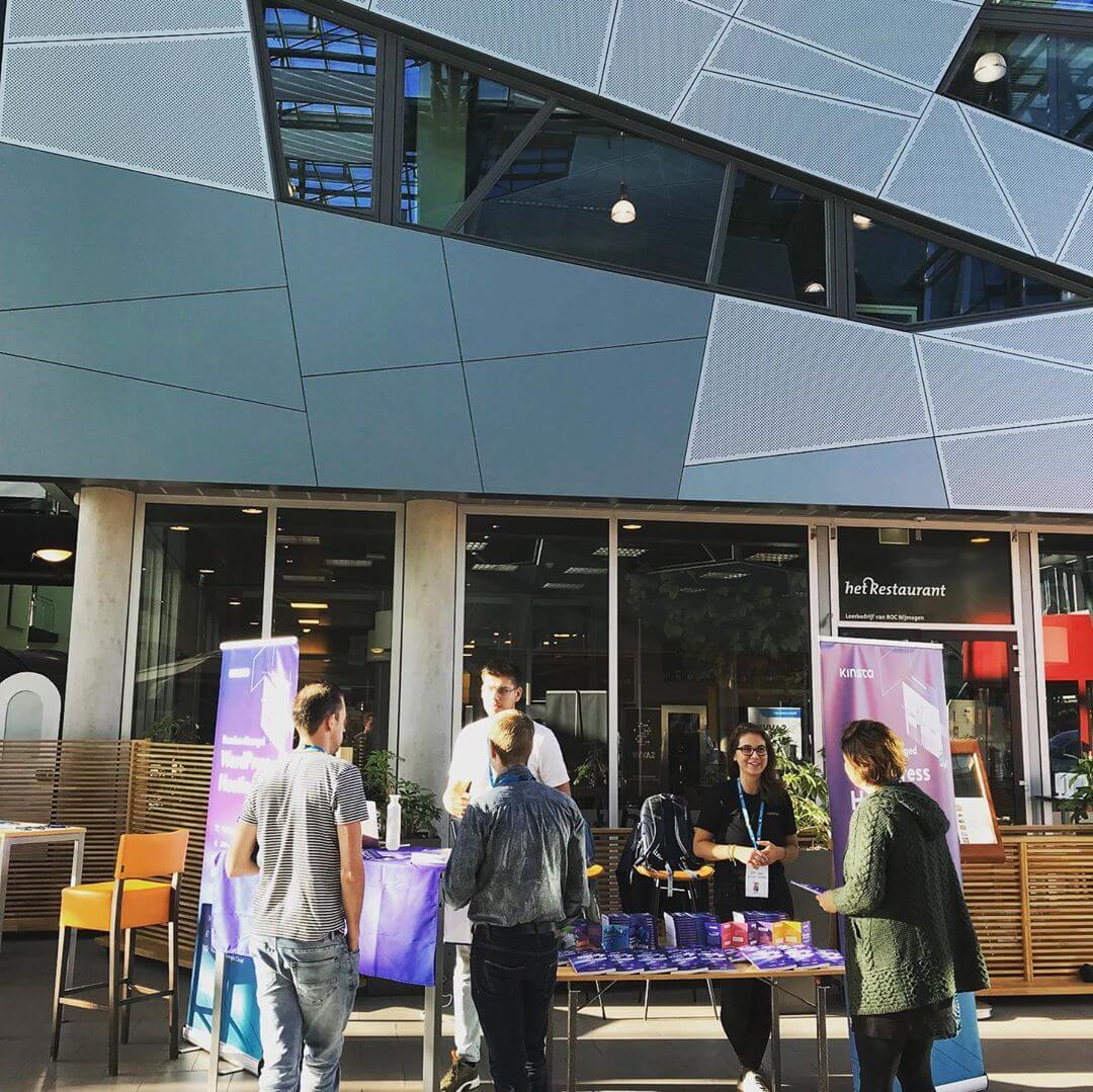 Kinsta´s plats i WordCamp Nijmegen