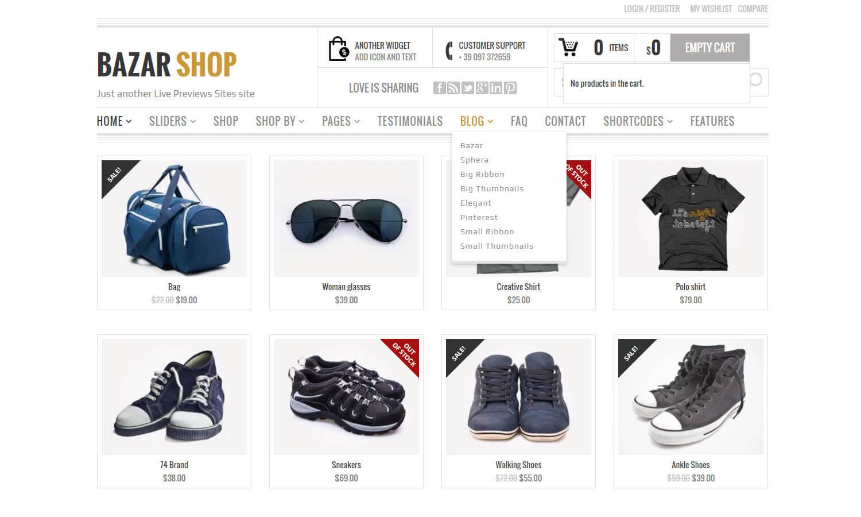 Bazar Shop skärmdump