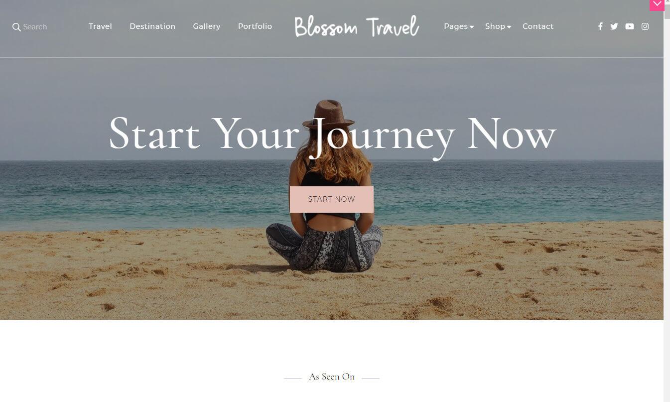 Blossom Travel Pro skärmdump