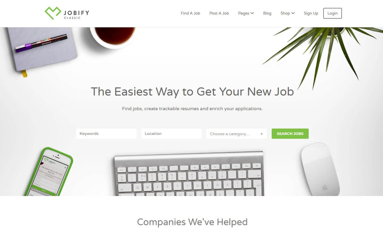 Jobify skärmdump