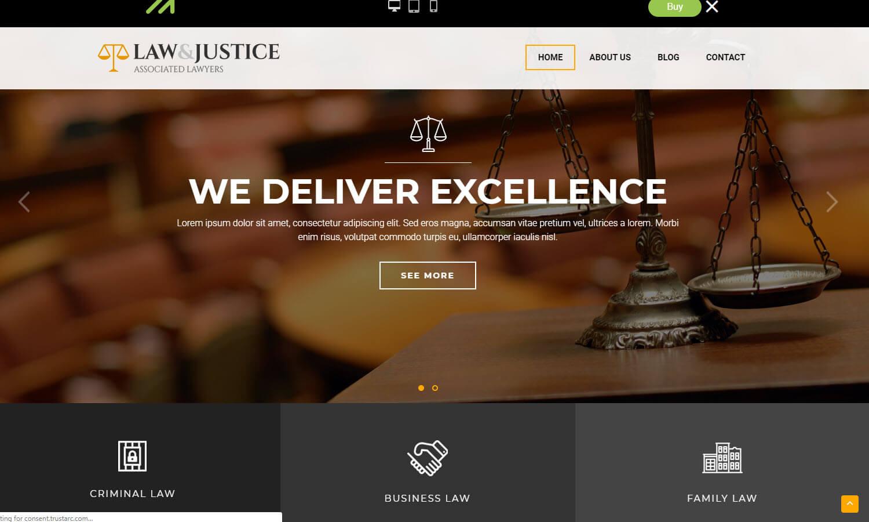 Law and Justice skärmdump