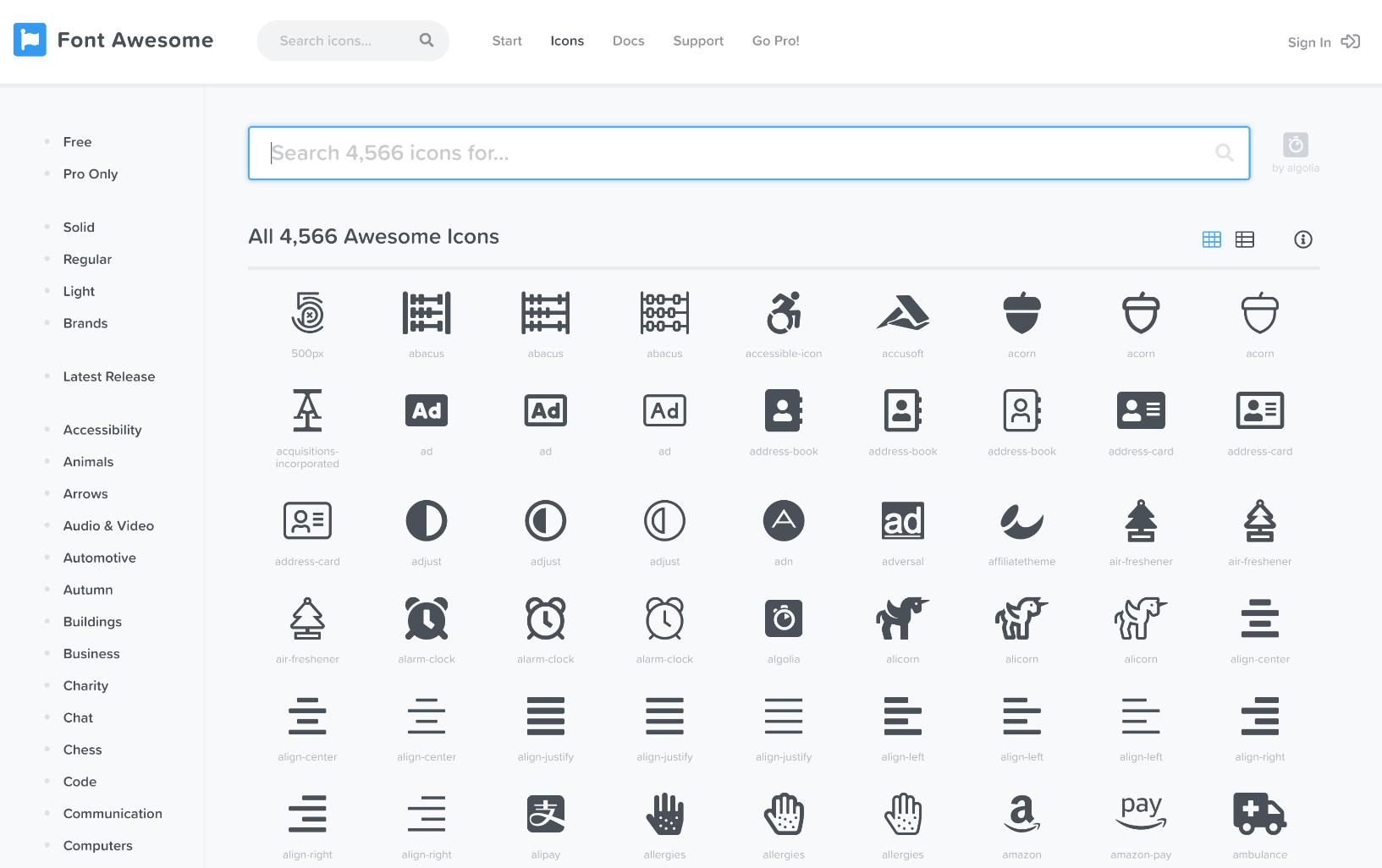 Font Awesome-ikoner