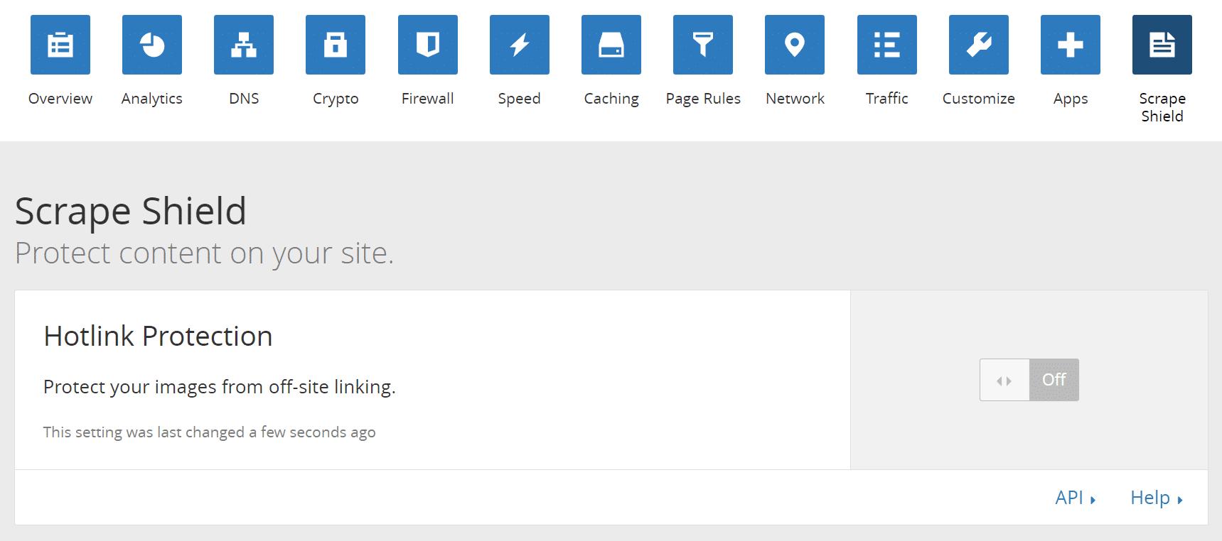 Cloudflare hotlink-skydd