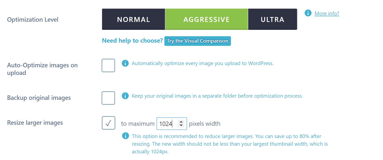 Ändra storlek på bilder i Imagify