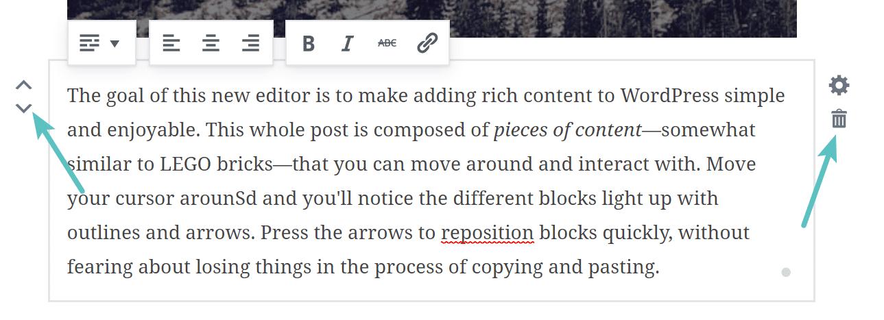 Arbeta med Gutenberg-block