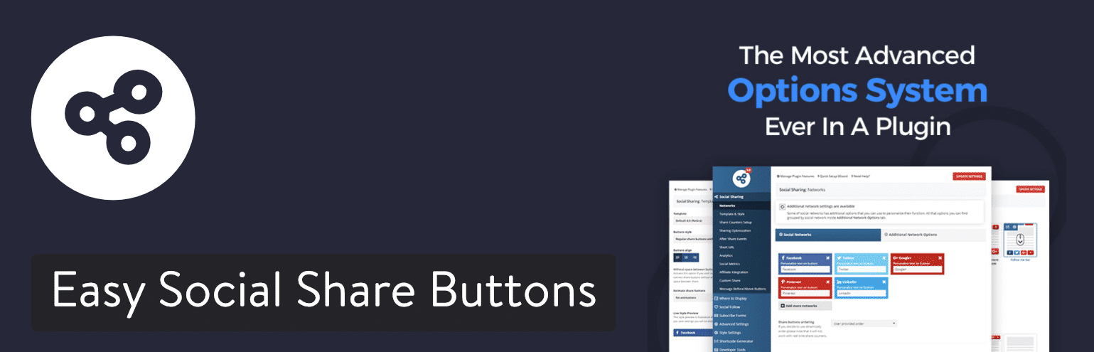 Easy Social Share Buttons for WordPress-plugin