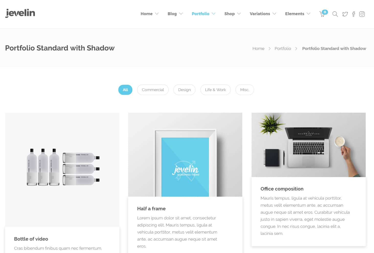WordPress portföljwebbplats