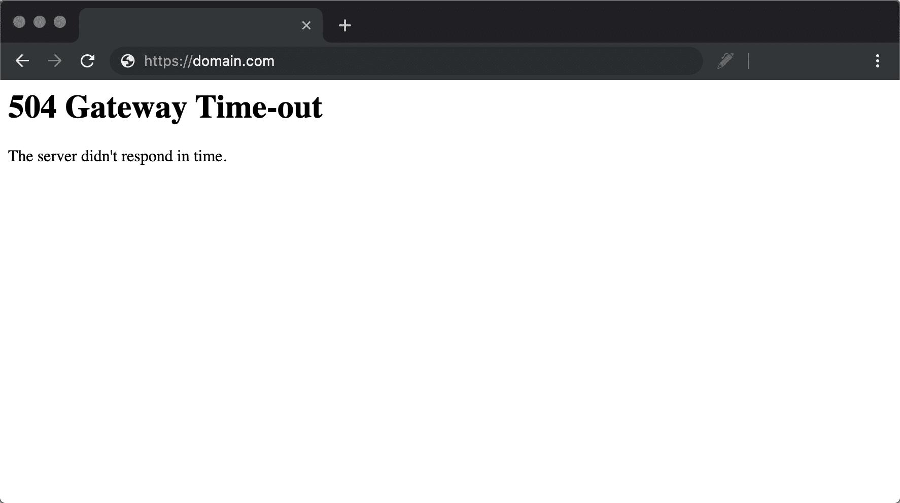 504 gateway timeout-fel i Chrome