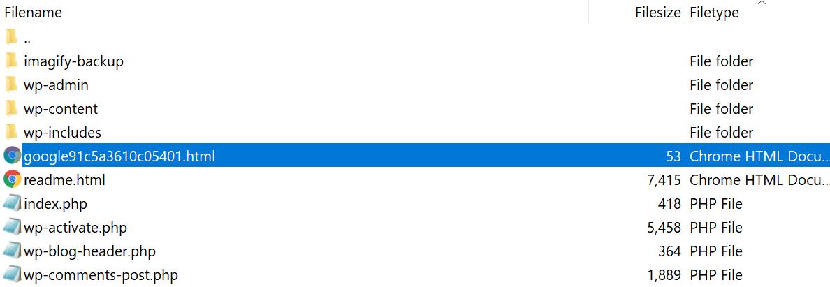 GSC-verifieringsfil