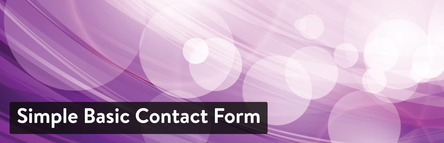 Simple Basic Contact Form WordPress plugin