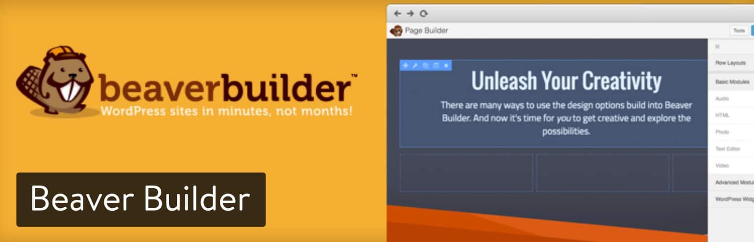 Beaver Builder WordPress-sidbyggare