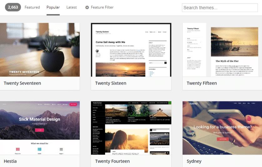WordPress temaarkiv