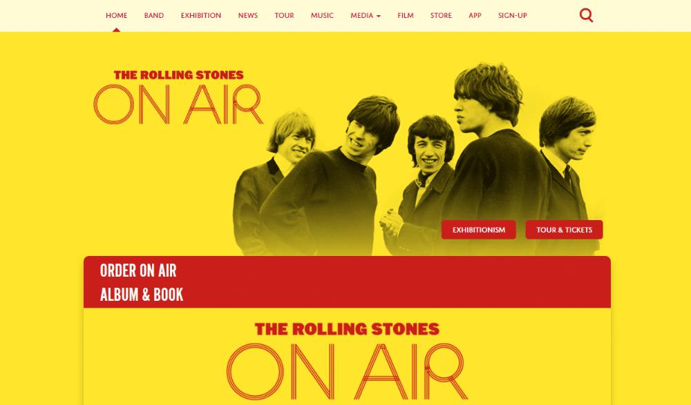 Rolling Stones band-webbplats använder WordPress