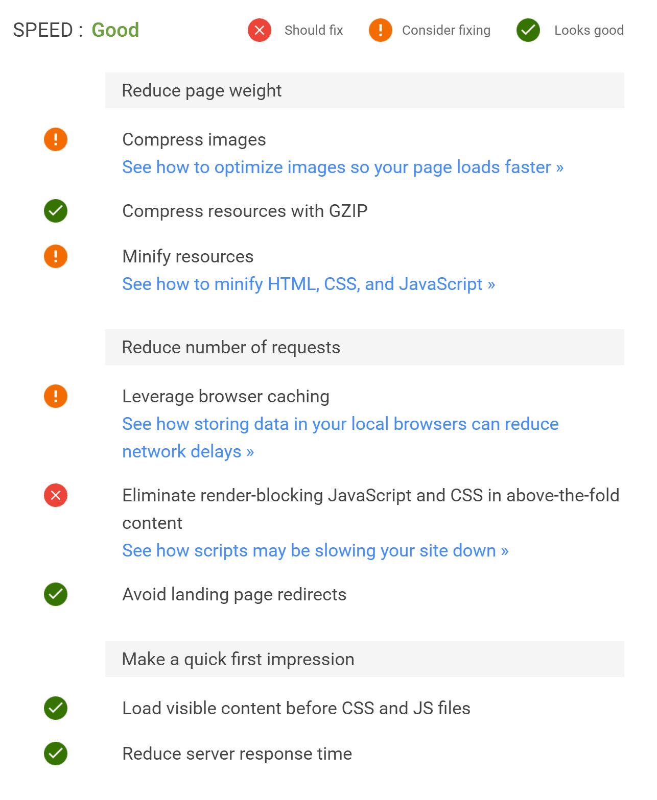Gör din webbplats snabbare rekommendationer